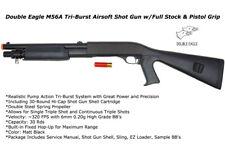 DE M56A Tri-Burst Shot Gun Full Stock & Pistol Grip Airsoft Shotgun