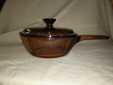 Vision Cookware Sauce Pan With Lid Amber