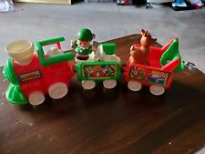Fisher-Price Little People Christmas Train W/horn Sound Elf & Reindeer Included