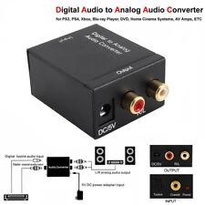 Adattatore convertitore audio analogico digitale RCA L/R cavo ottico fibra ottic