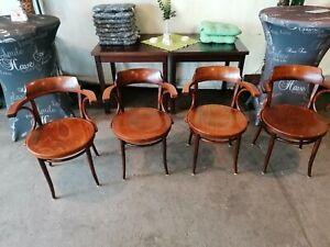 4 Esszimmer Stühle im Stil Thonet  233 Kaffeehausstuhl Bugholz Stuhl Bauhaus
