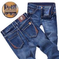 Men's Denim Pants Trousers Slim Fit Jeans Skinny Pencil Washed Cotton SP9837