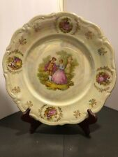Winterling German Plate. Courting Couple. Irridescent. #119