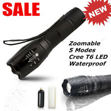 10000Lumens XM-L T6 Zoomable Tactical military LED Flashlight 18650 Torch Lamps