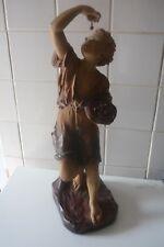 """Sculpture fin 19ème par F.Citti """"AH LES BONNES CERISES"""" _ H. 57 cm  A.Boutrolle"""