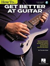 How to Get Better at Guitar - Guitar Educational Book Audio Online NEW 000157666