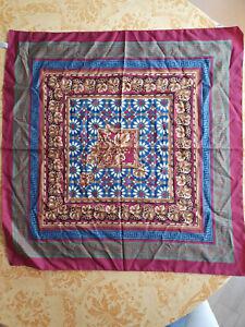 Carré / foulard polyester multicolore 80 x 80 cm modèle VINTAGE TBE