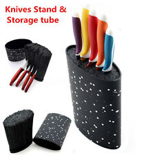 Oval Knives Cutlery Stand Block Universal Holder Storage Organizer Kitchen Set
