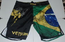 WANDERLEI SILVA CRIS CYBORG SIGNED AUTO VENUM FIGHT SHORTS PSA COA UFC TRUNKS +2