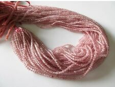 5 Strands 3mm Natural Strawberry Quartz Faceted Rondelle Bead 13 Inches GDS514/1