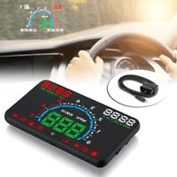 "Car 1x5.8"" E350 OBD2 Head Up Display HUD Speedometer Speed Warning Dashboard"