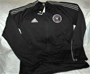 Inter Miami FC Herons Adidas Anthem full zip jacket men's MEDIUM NWT MLS black