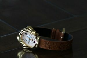 Disney Dopey (Snow White and the Seven Dwarfs) watch with embossed brown band