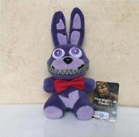 """FNAF Five Nights At Freddy's Nightmare Bonnie Purple 6"""" PlushXmas Toy Doll"""