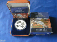 Australia .  2006  $1 Kangaroo -   1oz Silver - Proof - Cased