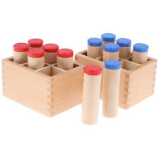Wooden Montessori Sensorial Toy - Sound Cylinder Box Set Kids Early Learning