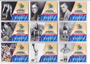 2013 UPPER DECK UNIVERSITY OF KANSAS BASKETBALL COLLEGIATE CARDS *