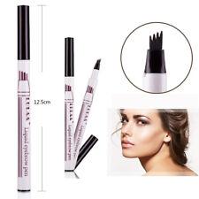 4 Head Eyebrow Pencil Fork Tattoo Pen Fine Sketch Tint Enhancer Cosmetic Tools