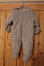 Next Blue baby boys sleepsuit / skisuit / snowsuit / all in one age 0-3 months