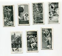 1937 W.D. & H.O. WILL'S CIGARETTES OUR KING AND QUEEN  7 TOBACCO CARD LOT