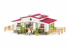 Schleich Horse Riding Centre Stable 42344 With Rider 2 Horses & Accessories