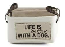 PET Dog Medium Canvas Storage Basket NWT