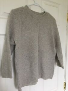 Zara Women's Sweater Medium Knit Crewneck Pullover 100% Cashmere