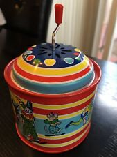 2007 Schylling Crank Handle Music Box Circus theme in excellent condition