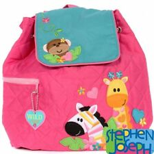 Girl Zoo Quilted Backpack by Stephen Joseph
