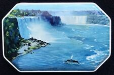 Vintage Tin Rileys Toffee Made In England Niagara Falls Lady of the Mist