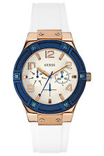 GUESS Womens Jet Setter White Rubber Strap W0564L1 Watch - 9 off
