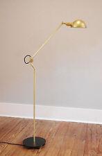 Brass Floor Lamp - Scissor Industrial Pharmacy Articulating Light -Brass Lamp