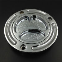 New Chrome Keyless Gas Cap Fuel Tank Cover For Yamaha YZF-R6 YZFR6 All Year