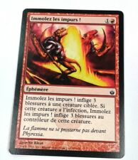 Immolez les impurs ! Mirrodin Assiégé n°59 Foil (Français) MTG Magic NM