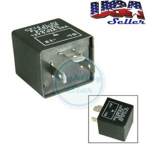 3-Pin 12V CF14 EP35 LED Flasher Relay Fix LED Turn Signal Hyper Flash Issue