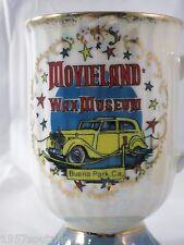 Movieland Wax Museum Pedestal Mug Cup Vintage Buena Park California lustreware