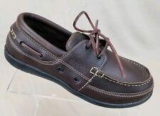 New Crocs Harborline Mens Boat Shoe Brown Leather Loafer Size 8 M