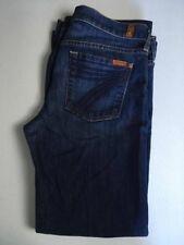 7 FOR ALL MANKIND DOJO Cotton Blend Wide Leg Jeans Women's 30 x 28 HEMMED