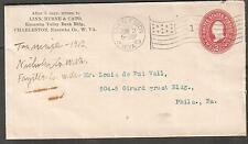 1903 cover Charleston Kanawha County WV flag cancel to Louis Vail Philade;phia