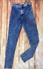 Topshop Moto fille bleu FADDED Skinny Slim Stretch Denim Jeans W28 L30