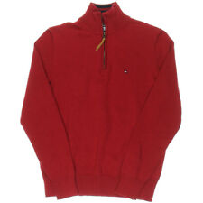 Tommy Hilfiger Jumper Windcheater Pullover XL 1/4 Zip RED Mens
