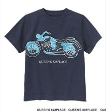 Nwt Gymboree boys 12 Space voyager Navy Blue motorcycle T-shirt Twins New
