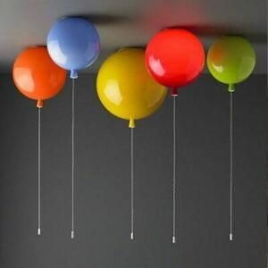 LED luz de techo globo de acrílico bola pantalla niños habitación lámpara sala