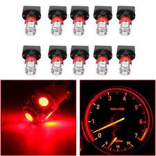 10x Red T10 194 Led Bulbs Instrument Panel Gauge Cluster Dash Light & Socket