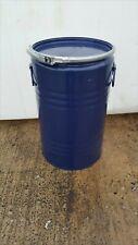 More details for 20 ltr litre metal storage drum with lid and clip small burner bonfire waste bin
