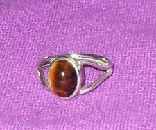 VINTAGE 1976 FULLY HALLMARKED BIRMINGHAM STERLING SILVER TIGERS EYE RING SIZE M