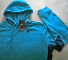 NWT $55 Men's NIKE Therma-Fit PULLOVER HOODIE Aqua Blue, Navy XL