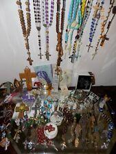 New listing Vtg Religious ~ Rosaries ~ Crosses ~Medals ~Icons ~ Pendants (Lot 2) 2 Lb - 8.Oz