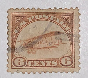 Travelstamps:  1918 US Stamps Scott #C1 Airmail Used NG Curtiss Jenny ERROR