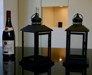 set of 2 black coloured Lanterns, 28 cm tall  perfect wedding displays